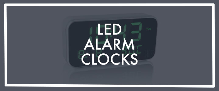 Best mains powered LED alarm clock with battery back up